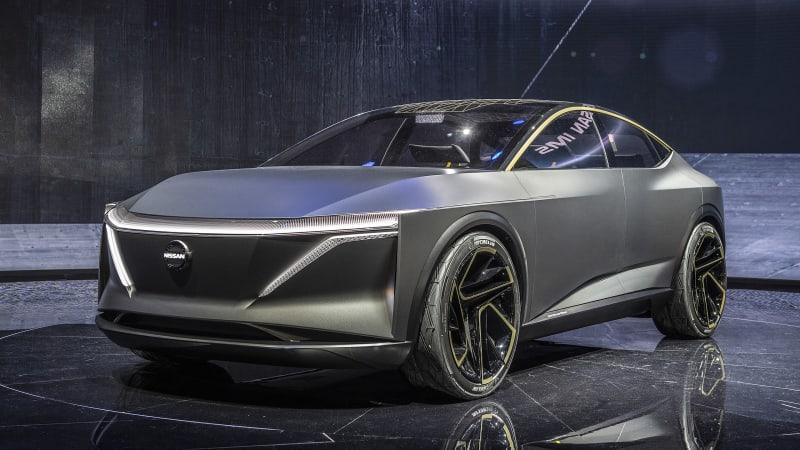 Nissan IMs Concept is a slinky, sporty EV sedan