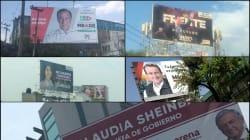 Ciudadanos detectan espectaculares ilegales de candidatos en