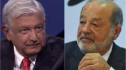 Las frases de la confrontación Slim vs AMLO por la defensa del nuevo