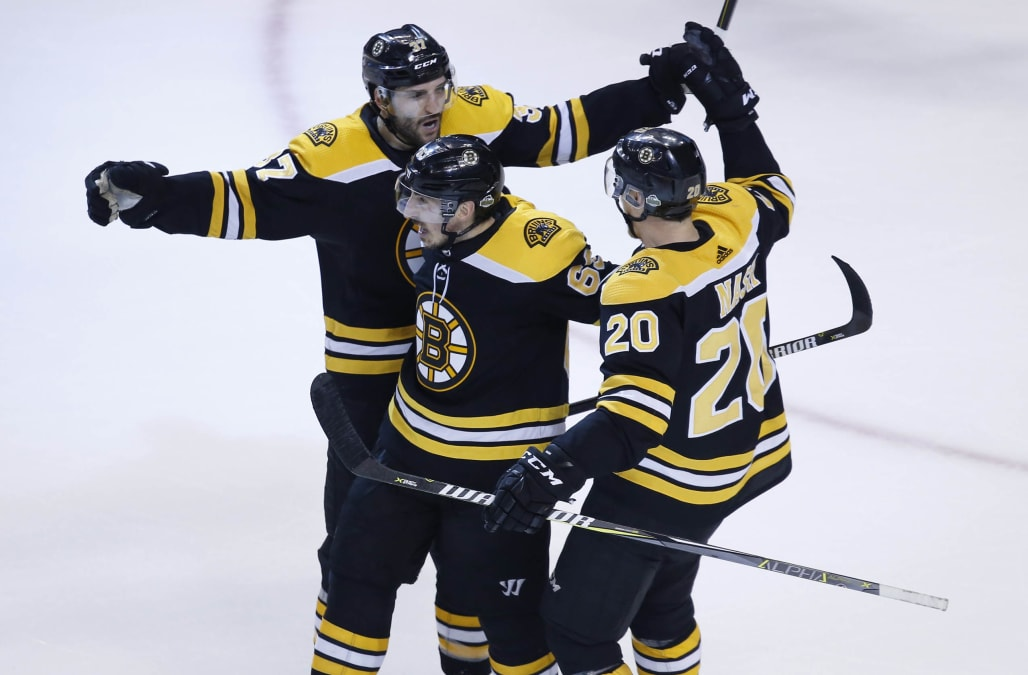 Jake DeBrusku0027s Go Ahead Goal With 14:35 Remaining In The Third Period Led  The Host Boston Bruins To A 7 4 Win Over The Toronto Maple Leafs In Game 7  Of ...