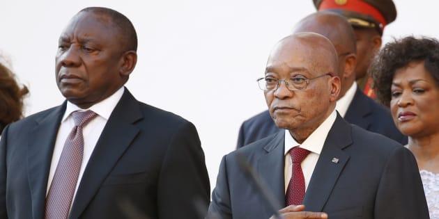 South Africa's Deputy President Cyril Ramaphosa and President Jacob Zuma.