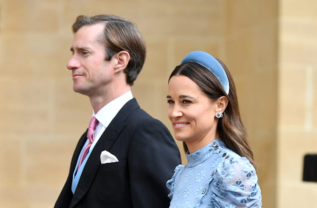 Pippa Middleton is a total stunner in Kate Spade for Lady Gabriella Windsor's wedding