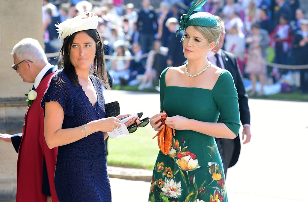 Lady Kitty Spencer dazzles in forest green Dolce & Gabbana dress at the  royal wedding