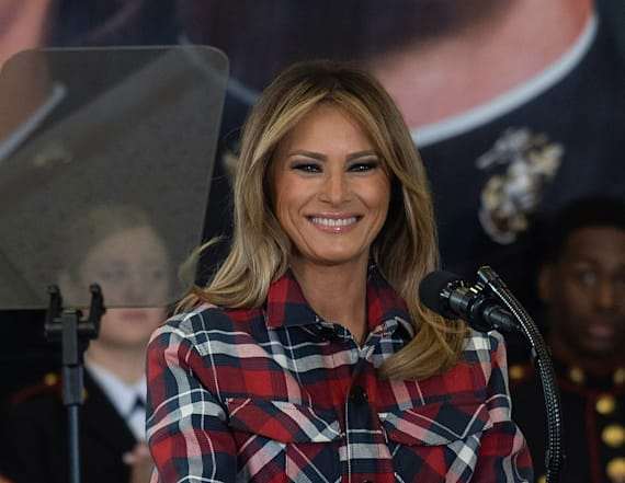 Melania makes first lady history with Osprey ride