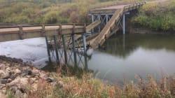 Saskatchewan: un pont s'effondre quelques heures après son