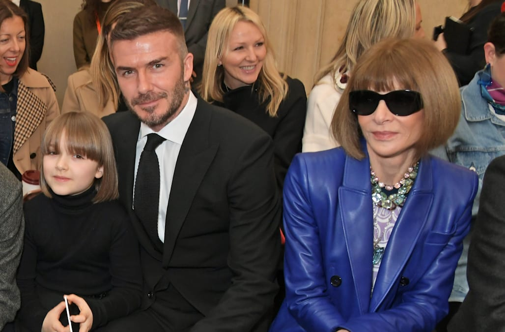 5d5daa4093 Victoria Beckham s daughter Harper is twinning with Anna Wintour  See their  matching haircuts!