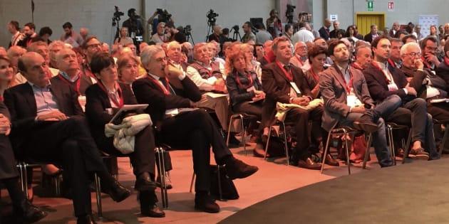 Assemblea di Articolo 1 Mdp, con Massimo D'Alema, Pierluigi Bersani, Roberto Speranza e Alfredo D'Attorre  a Milano, 20 maggio 2017. ANSA/ALESSANDRO FRANZI