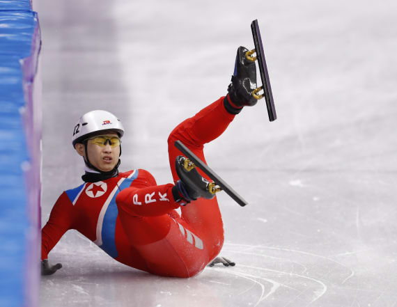 Korean speed skater disqualified after 2 crashes