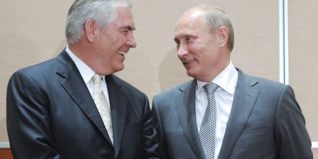 Rex Tillerson est une relation de longue date de Vladimir Poutine.