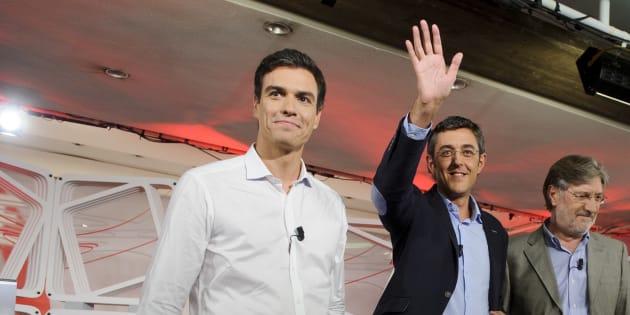 Pedro Sánchez y Eduardo Madina