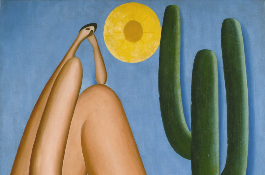 TARSILA DO AMARAL. ABAPORU, 1928. OIL ON CANVAS. 33 7/16 X 28 3/4 IN. (85 X 73 CM). COLLECTION MALBA, MUSEO DE ARTE LATINOAMERICANO DE BUENOS AIRES. © TARSILA DO AMARAL LICENCIAMENTOS.