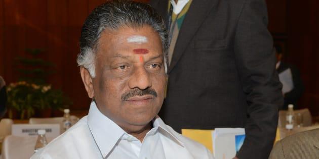 Tamil Nadu Chief Minister O Panneerselvam.
