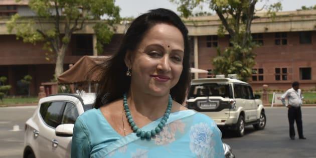 File photo of Bollywood actress and BJP MP from Mathura Hema Malini.