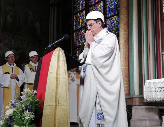 Notre Dame holds first mass since fire