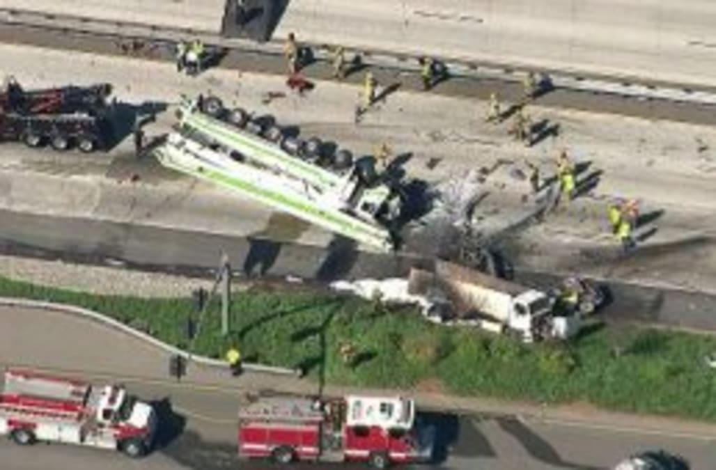 At least 5 killed in Southern California freeway crash - AOL