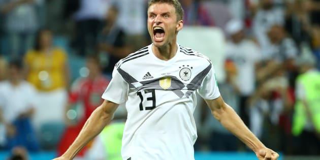 Alemanha, de Thomas Muller, bateu Suécia no último lance do jogo.