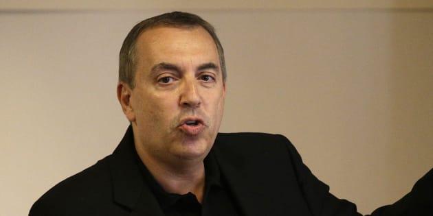 Jean-Marc Morandini en conférence de presse le 19 juillet à Paris.