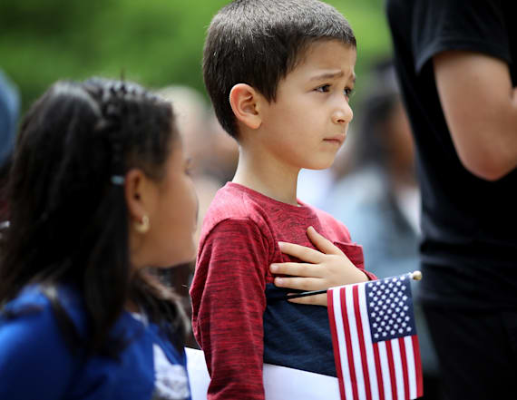 Migrant kids forced to recite Pledge of Allegiance