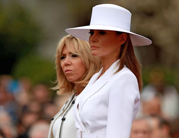 Melania Trump is a vision in all-white Michael Kors