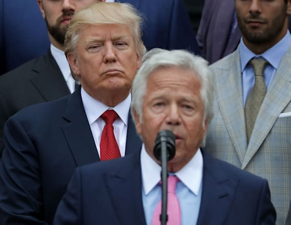 Trump addresses charges against Robert Kraft