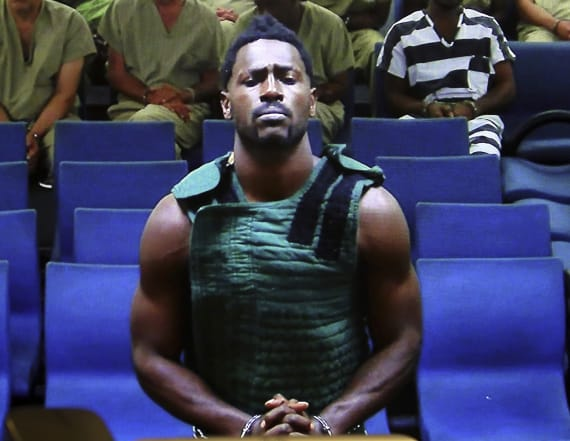 Startling image shows Antonio Brown in courtroom