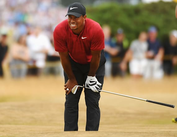 Fan noise at The Open disrupts Tiger Woods' swing