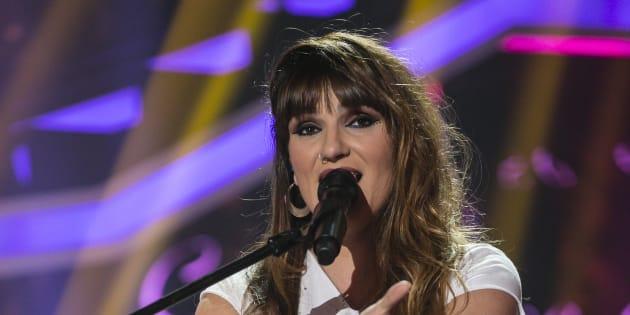 La cantante Rozalén, en 'Operación Triunfo' el 22 de enero de 2018.