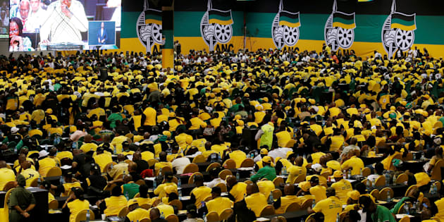 ANC members and delegates attend the 54th National Conference of the ANC at the Nasrec Expo Centre in Johannesburg, South Africa, December 16, 2017. REUTERS/Siphiwe Sibeko