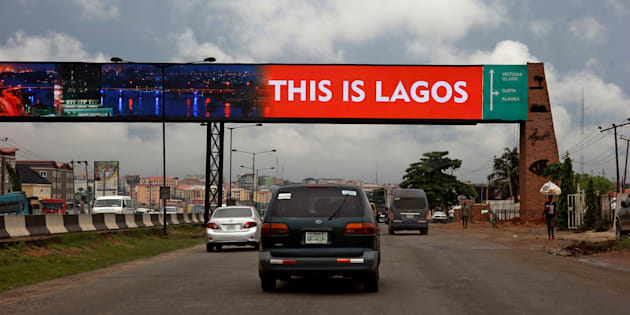 A billboard across the Lagos-Ibadan expressway at Ojodu district in Nigeria's commercial capital Lagos – July 1 2017.