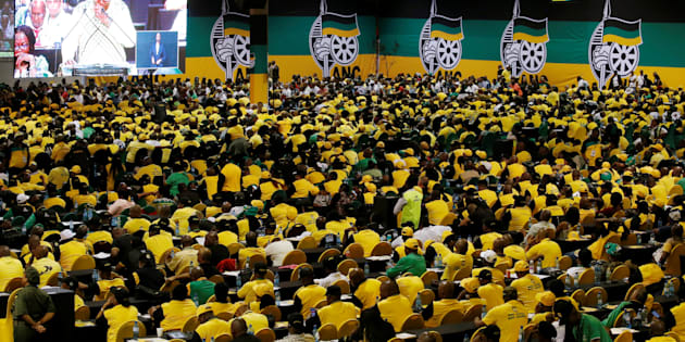ANC members and delegates attend the 54th National Conference of the ruling African National Congress (ANC) at the Nasrec Expo Centre in Johannesburg, South Africa December 16, 2017.