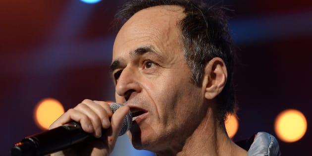 Jean-Jacques Goldman lors d'un spectacle des Enfoirés à Strasbourg le 15 janvier 2014.