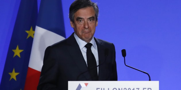 François Fillon a annoncé le maintien de sa candidature lors d'une déclaration à son QG.