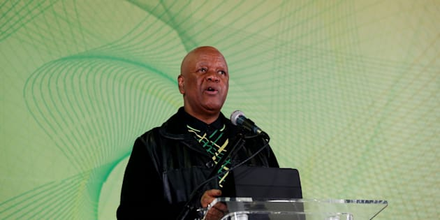 Jeff Radebe addresses delegates during the Progressive Business Forum on the sidelines of the ANC national policy conference at Nasrec – July 4, 2017.