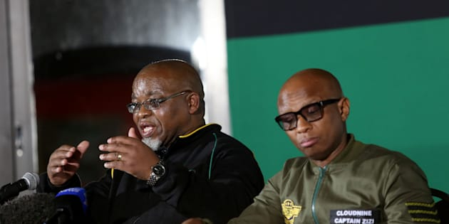 Secretary General Gwede Mantashe and Spokesperson Zizi Kodwa during the ANC's national policy conference at the Nasrec Expo Centre on June 30, 2017 in Johannesburg.