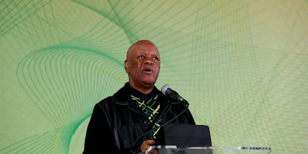 JOHANNESBURG, SOUTH AFRICA  JULY 04: (SOUTH AFRICA OUT): Minister in the Presidency Jeff Radebe addresses delegates during the Progressive Business Forum on the side-lines of the African National Congress (ANC) 5th national policy conference at the Nasrec Expo Centre on July 04, 2017 in Johannesburg, South Africa. The conference is a gathering of about 3500 delegates from branches across the country to discuss the partys policies going into the elective conference in December, where changes and new policies will be ratified. (Photo by Masi Losi/ The Times/Gallo Images/Getty Images)