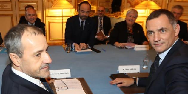 Après une rencontre à Matignon (photo) et une au Sénat, Jean-Guy Talamoni et Gilles Simeoni mettent la pression sur Macron.