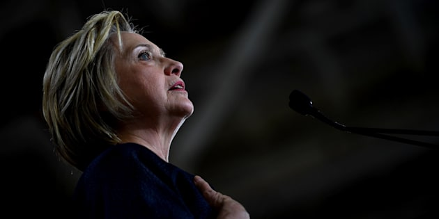 CLEVELAND, OH-JUNE 13:  Presumptive Democratic Party nominee Hillary Clinton gave a speech at the Cleveland Industrial Innovation Center in Cleveland today. She touched on the mass shooting in Orlando during her remarks. (Photo by Michael S. Williamson/The Washington Post via Getty Images