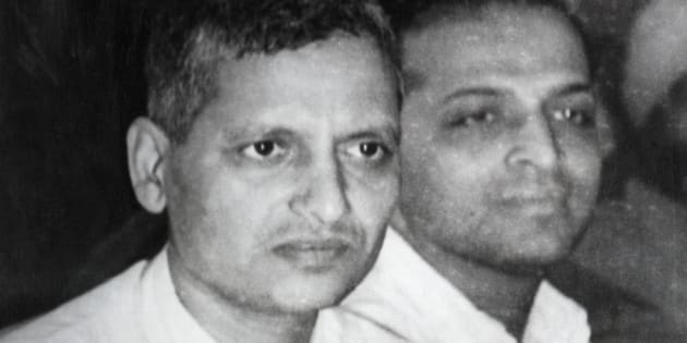 Nathuram Vinayak Godse (l) and Narayan Dattatraya Apte, Hindu journalists and assassins of Indian nationalist leader Mahatma Gandhi. Godse was convicted as the actual slayer of Gandhi, and Apte was convicted as the leader of the assassination. Both men received the death penalty, and died at the gallows of Ambala Central Jail on November 15, 1949.