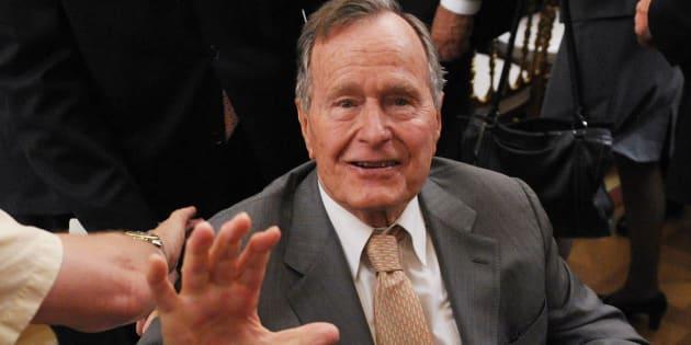 ジョージ・ブッシュ(父)元米大統領=2012年5月、アメリカ・ワシントン