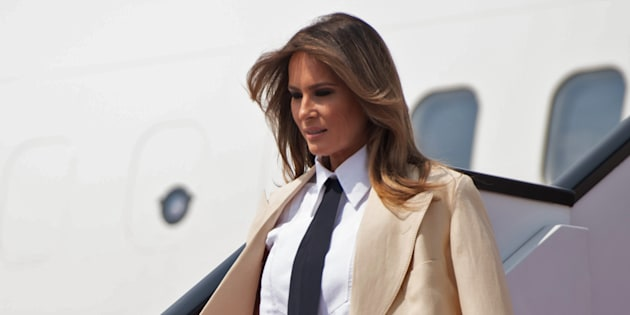 Melania Trump à l'aéroport international du Caire le 6 octobre 2018.