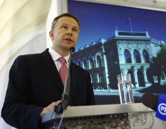 Latvia's central bank chief detained in raid