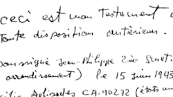 Le testament manuscrit de Johnny Hallyday
