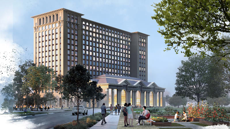Ford previews plans for Michigan Central Station, won't only be for Ford