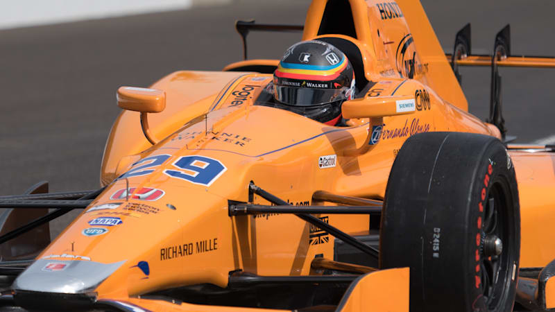 Fernando Alonso gets quickly up to speed at the Brickyard