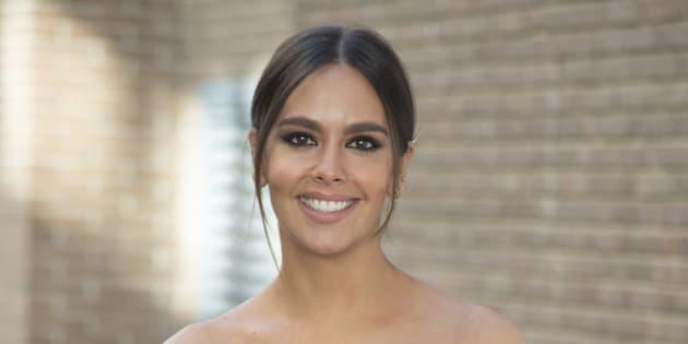 La presentadora Cristina Pedroche durante el 'photocall' por la emisón número 1000 del programa 'Zapeando' el 21 de noviembre de 2017 en Madrid.
