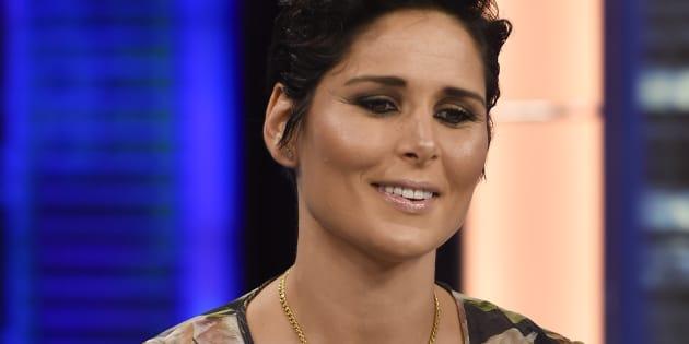 La cantante Rosa López en el programa de televisión 'El Hormiguero'.