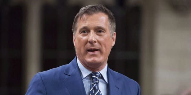 Conservative MP Maxime Bernier rises in the House of Commons in Ottawa on Dec. 1, 2017.