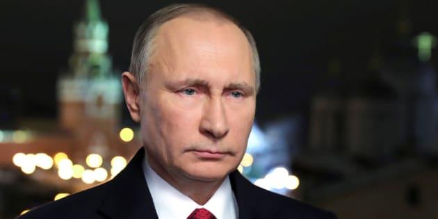Le président russe Vladimir Putin lors de ses voeux annuels à Moscou, le 31 décembre 2016. Sputnik/Mikhail Klimentyev/Kremlin via REUTERS