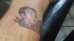 Ce Nordiste se fait tatouer le visage de Macron et un kebab sur le