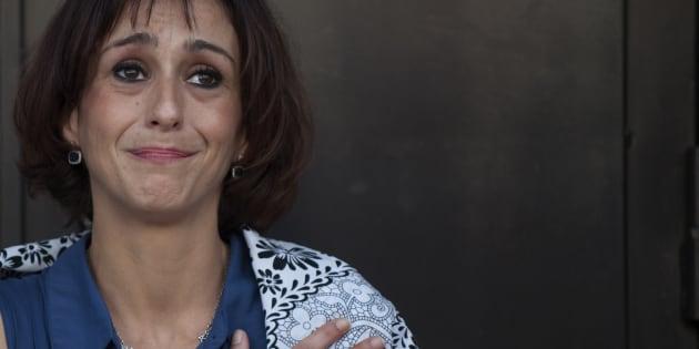 Juana Rivas, a su salida del juzgado de Granada, el pasado agosto.